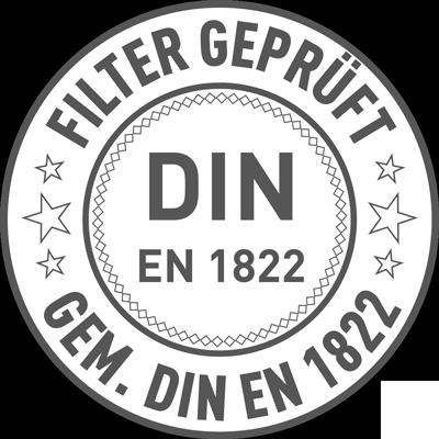 Siegel Filter geprüft gem. DIN EN 1822